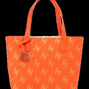 Orange Pull String Tote Bag