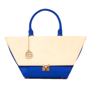Nude & Blue Flap Bag