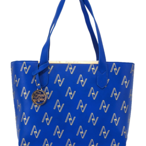 Blue Pull String Tote Bag