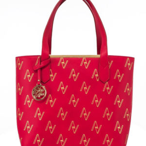 Red Pull String Tote Bag